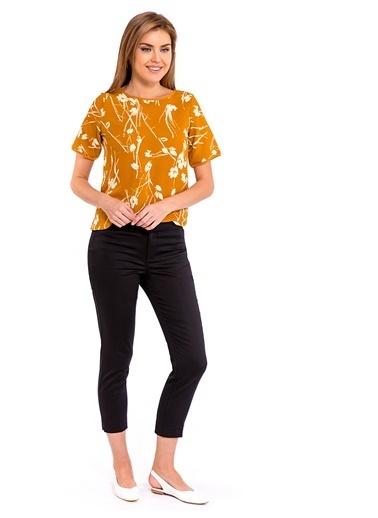 LC Waikiki Beli Lastikli Bol Pantolon Siyah